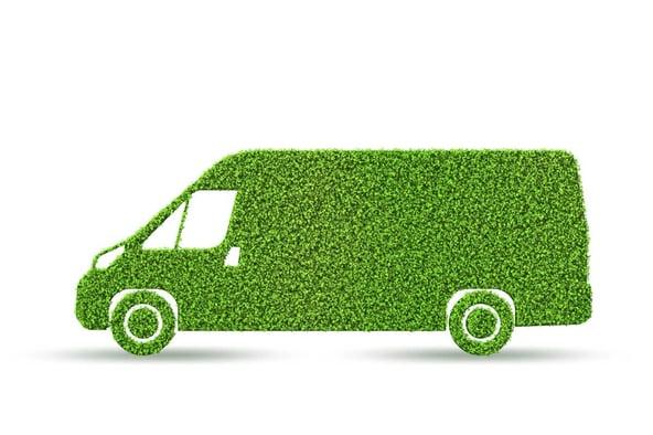 Grüner Lieferwagen